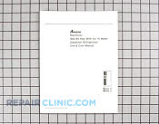 Manuals, Care Guides & Literature - Part # 103830 Mfg Part # A1069208