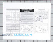 Service data sheet - Part # 1038343 Mfg Part # 240389616
