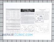 Service data sheet - Part # 1038343 Mfg Part # 240389616