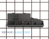 Vent  grille 02  (black) - Part # 763525 Mfg Part # 8052178-33