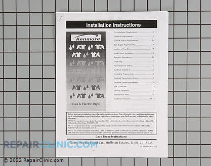 Installation Instructions 134199600       Main Product View
