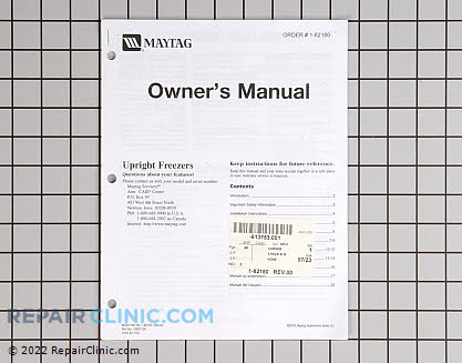 Owner's Manual 1-82180         Main Product View
