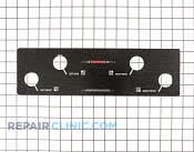 Control  Panel - Part # 499719 Mfg Part # 318021101