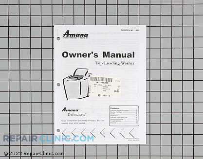 Manuals, Care Guides & Literature 40118601 Main Product View