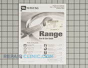 Manuals, Care Guides & Literature - Part # 1189454 Mfg Part # 8113P456-60