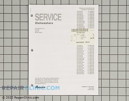 Repair Manual RW330002 Main Product View
