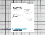 Manuals, Care Guides & Literature - Part # 1184411 Mfg Part # 16025909
