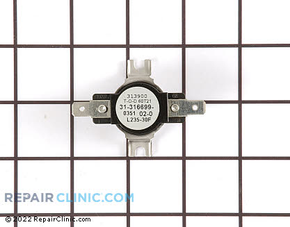High Limit Thermostat Y0316699 Main Product View