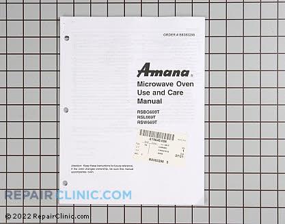 Owner's Manual B8383298        Main Product View