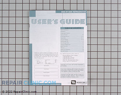 Owner's Manual 61005032 Main Product View
