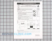 Manuals, Care Guides & Literature - Part # 493939 Mfg Part # 316002989