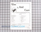 Manuals, Care Guides & Literature - Part # 724418 Mfg Part # 8112P092-60