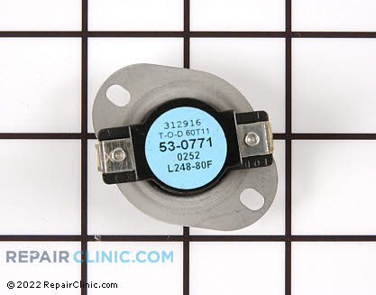 High Limit Thermostat 53-0771 Main Product View
