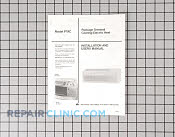Manuals, Care Guides & Literature - Part # 377657 Mfg Part # 10293804