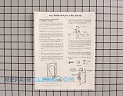 Manuals, Care Guides & Literature - Part # 386200 Mfg Part # 108872-1
