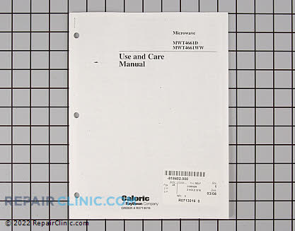 Manuals, Care Guides & Literature R0713016 Main Product View