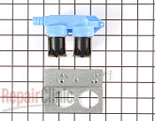 Washing machine water inlet valve kit with bracket