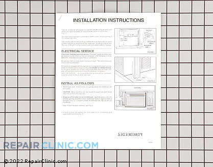 Installation Instructions 5303303809      Main Product View