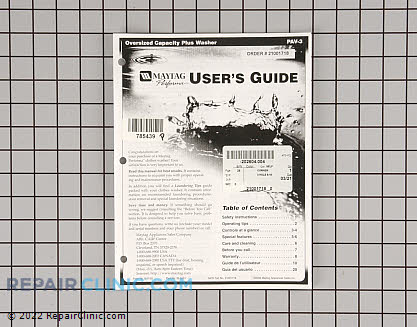 Manuals, Care Guides & Literature 21001718 Main Product View