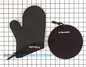 Silicone Mitt and Hot Pad - Part # 1064940 Mfg Part # GMBLKEC
