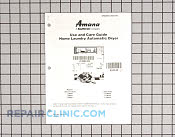 Owners manual ( - Part # 924342 Mfg Part # 501410