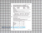 Tech sheet-int'l s x - Part # 983454 Mfg Part # RT5290002