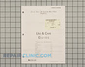 Manuals, Care Guides & Literature - Part # 1072338 Mfg Part # 74008492