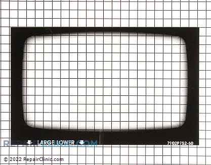 Oven Door Glass 74010042 Main Product View
