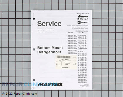Repair Manual 16025629 Main Product View