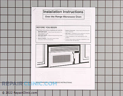 Installation Instructions 316488501       Main Product View