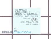 Nameplate - Part # 1198402 Mfg Part # 5304456657