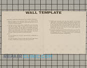 Wall template, pcor30 - Part # 1392152 Mfg Part # 66772