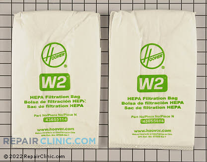 Vacuum Bag 401080W2 Main Product View