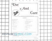 Manuals, Care Guides & Literature - Part # 724413 Mfg Part # 8112P087-60
