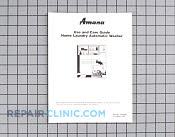 Manuals, Care Guides & Literature - Part # 485543 Mfg Part # 308643