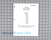 Manuals, Care Guides & Literature - Part # 790944 Mfg Part # 16010191