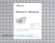 Manuals, Care Guides & Literature - Part # 915707 Mfg Part # 40124301