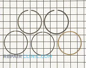Piston Ring Set - Part # 1609930 Mfg Part # 12 108 01-S