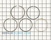 Piston Ring Set - Part # 1610076 Mfg Part # 235287-S