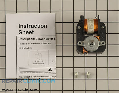 Exhaust Fan Motor 12002065 Main Product View