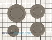 Surface Burner Cap - Part # 1810362 Mfg Part # W10244448