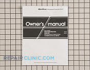 Owner's Manual - Part # 1013720 Mfg Part # A00035820AQ