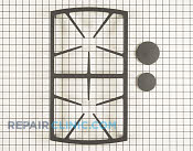 Burner Grate - Part # 1256886 Mfg Part # 72466SB