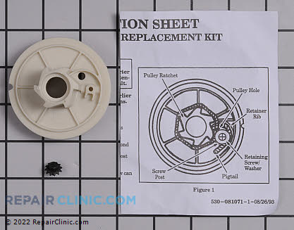 Recoil Starter Pulley 530069486 Main Product View