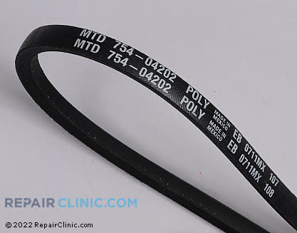 Belt: V-Belt 954-04202 Main Product View