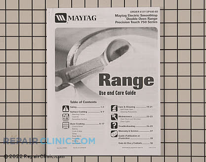 Repair Manual 8113P440-60 Main Product View