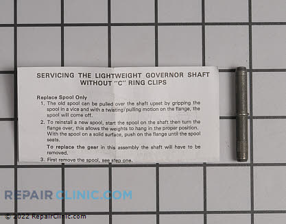 Governor Shaft 30574A          Main Product View
