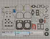 Gasket Set - Part # 1969781 Mfg Part # 24 755 208-S