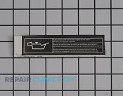 Label - Part # 1956048 Mfg Part # 940708002