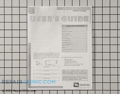 Owner's Manual 61005298        Main Product View